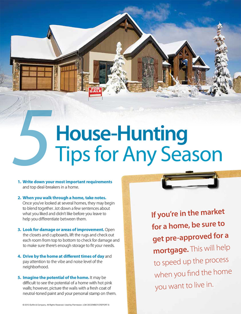 5 home buying tips for any season