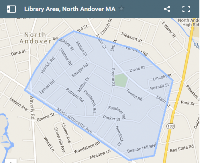 Library Area North Andover Map