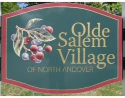 Sign at Olde Salem Village Condos in North Andover