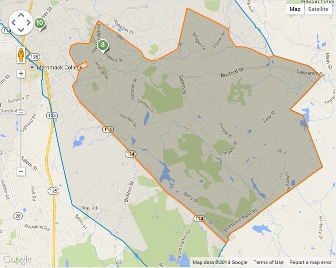 Annie L Sargent Elementary School District Map